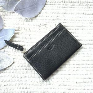 NWOT coach black leather card/coin purse